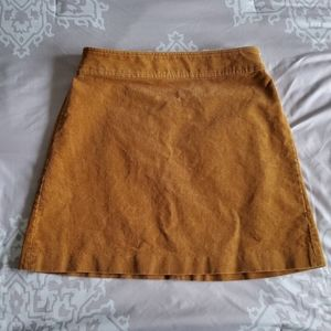 Jcrew mustard corduroy mini skirt